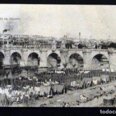 Postales: MADRID, PUENTE DE TOLEDO, POSTAL CIRCULADA CON SELLO DEL AÑO 1914. Lote 150820162