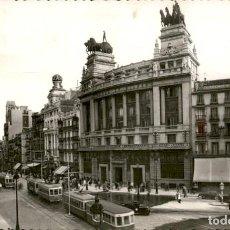 Postales: MADRID – CALLE DE ALCALA Y BANCO DE BILBAO – 47 - CIRCULADA. Lote 150846318