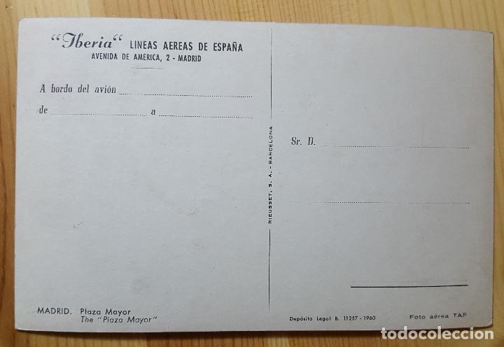 Postales: Madrid Plaza Mayor Iberia Ed. Rieusset 1960 - Foto 2 - 151188834