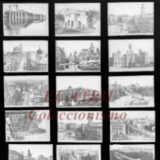 Postales: 18 CLICHES ORIGINALES - MADRID - NEGATIVOS EN CRISTAL - EDICIONES ARRIBAS. Lote 151219994