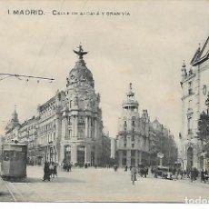 Postales: TARJETA POSTAL ANTIGUA DE MADRID CALLE DE ALCALA Y GRAN VIA - GRAFOS -. Lote 151411650