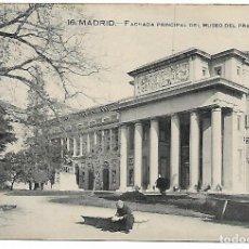 Postales: TARJETA POSTAL ANTIGUA DE MADRID FACHADA PRINCIPAL DEL MUSEO DEL PRADO - GRAFOS -. Lote 151413554