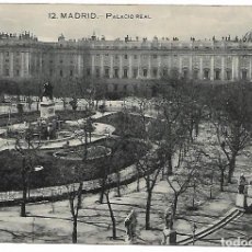 Postales: TARJETA POSTAL ANTIGUA DE MADRID PALACIO REAL - GRAFOS -. Lote 151414830
