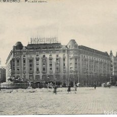 Postales: TARJETA POSTAL ANTIGUA DE MADRID PALACE HOTEL - GRAFOS -. Lote 151415238