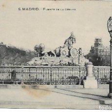 Postales: TARJETA POSTAL ANTIGUA DE MADRID FUENTE DE LA CIBELES - GRAFOS -. Lote 151415846