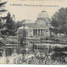Postales: TARJETA POSTAL ANTIGUA DE MADRID PARQUE DEL RETIRO PALACIO DE CRISTAL - GRAFOS -. Lote 151416094