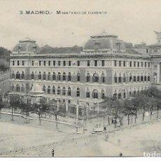 Postales: TARJETA POSTAL ANTIGUA DE MADRID MINISTERIO DE FOMENTO - GRAFOS -. Lote 151416302