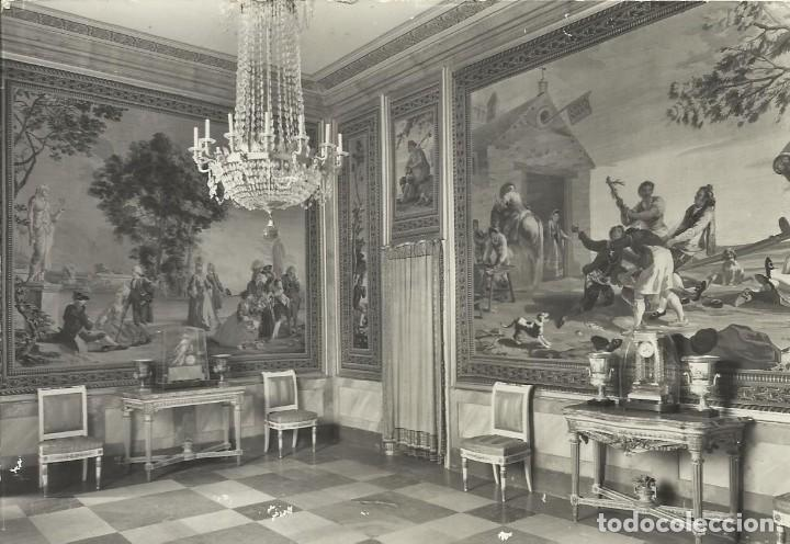 MADRID. EL ESCORIAL. PALACIO DE LOS BORBONES. 15. PATRIMONIO NACIONAL. ESCRITA CON SELLO. 10X15 CM. (Postales - España - Madrid Moderna (desde 1940))