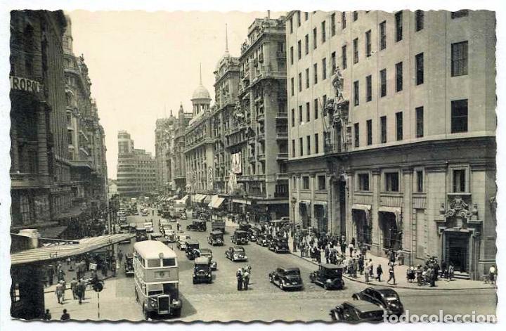 TARJETA POSTAL FOTOGRAFICA - MADRID / AVENIDA DE JOSE ANTONIO (Postales - España - Madrid Moderna (desde 1940))