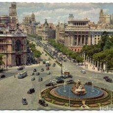 Postales: TARJETA POSTAL - MADRID / PANORAMICA DE LA PLAZA CIBELES Y CALLE ALCALÁ. Lote 151881562