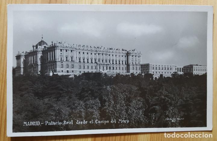 MADRID PALACIO REAL DESDE EL CAMPO DEL MORO ED. MARGARA 1930 (Postales - España - Madrid Moderna (desde 1940))