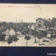 Postales: 103 MADRID ENTRADA DE LA MONCLOA Y PARISIANA - LACOSTE. Lote 153626946