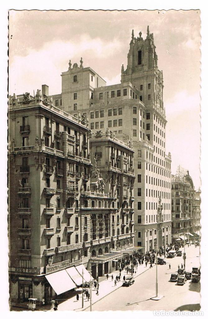 MADRID, AVENIDA DE JOSÉ ANTONIO, EDIFICIO DE LA TELEFONICA (Postales - España - Madrid Moderna (desde 1940))