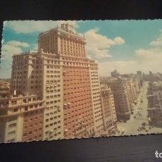Postales: TARJETA POSTAL MADRID AVENIDA JOSÉ ANTONIO - CIRCULADA 1960?. Lote 153733874