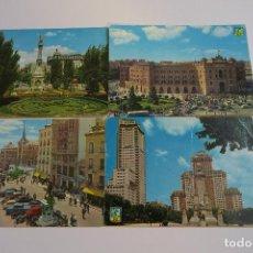 Postales: MADRID LOTE 4 POSTALES TARJETAS POSTALES ANTIGUAS. Lote 153866834