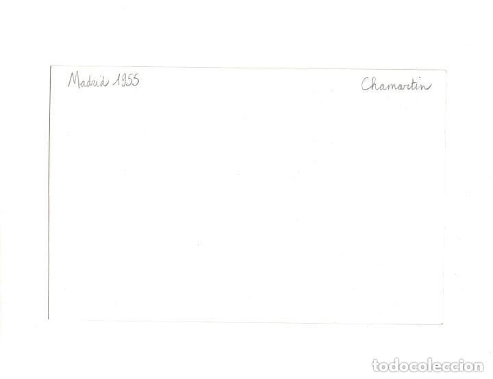 Postales: MADRID.- TRANVÍA. 1955. CHAMARTIN. FOTOGRAFÍA TAMAÑO POSTAL - Foto 2 - 154558218