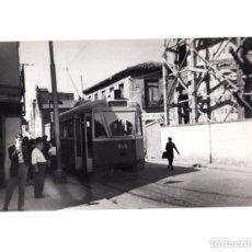 Postales: MADRID.- TRANVÍA. 1955. PUENTE DE VALLECAS. FOTOGRAFÍA TAMAÑO POSTAL. Lote 154558682