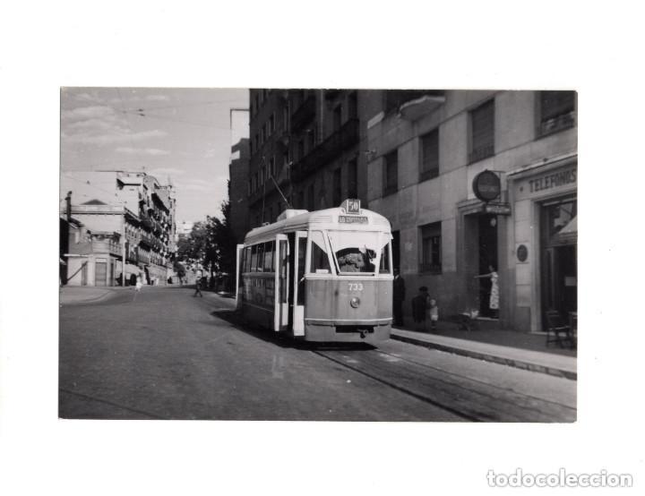 MADRID.- TRANVÍA. 1955. MONCLOA. FOTOGRAFÍA TAMAÑO POSTAL (Postales - España - Comunidad de Madrid Antigua (hasta 1939))
