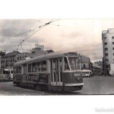Postales: MADRID.- TRANVÍA. 1955. MANUEL BECERRA. FOTOGRAFÍA TAMAÑO POSTAL. Lote 154560034
