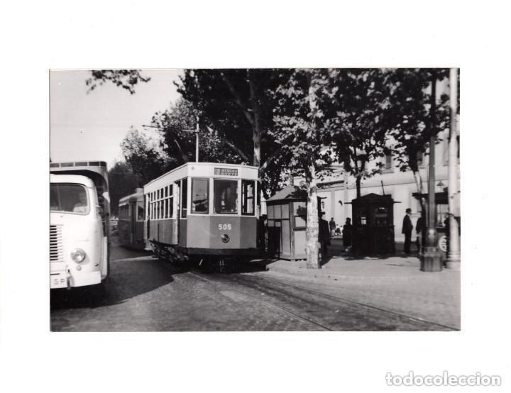MADRID.- TRANVÍA. 1955. ATOCHA. FOTOGRAFÍA TAMAÑO POSTAL (Postales - España - Comunidad de Madrid Antigua (hasta 1939))