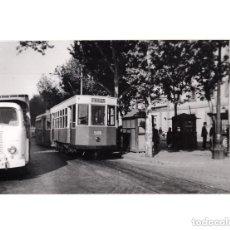 Postales: MADRID.- TRANVÍA. 1955. ATOCHA. FOTOGRAFÍA TAMAÑO POSTAL. Lote 154560514