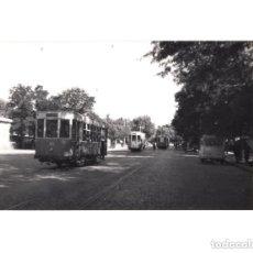 Postales: MADRID.- TRANVÍA. 1955. ESTACIÓN DEL NORTE. FOTOGRAFÍA TAMAÑO POSTAL. Lote 154560534