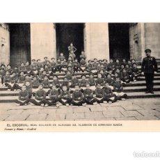 Postales: EL ESCORIAL.(MADRID).- REAL COLEGIO ALFONSO XII. ALUMNOS DE GIMNASIA SUECA. Lote 154663266