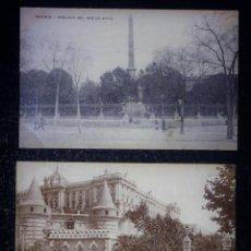 Postales: 3 POSTALES DE MADRID CIRCULADAS CON SELLO, DE LOS AÑOS 1909 Y 1912. Lote 155007086
