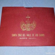 Postales: LIBRO Y FUNDA 9 POSTALES ACORDEON SANTA CRUZ DEL VALLE DE LOS CAIDOS EDITORIAL PATRIMONIO NACIONAL. Lote 155094038