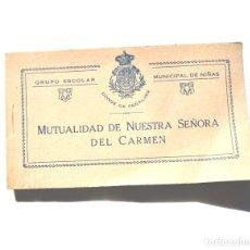 Postales: MADRID.- GRUPO ESCOLAR MUNICIPAL DE NIÑAS CONDE DE PEÑALVER - ÁLBUM COMPLETO. 35 POSTALES. Lote 155350570
