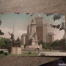 Postales: POSTAL PZA ESPAÑA CON SELLO FRANCO. Lote 155365620