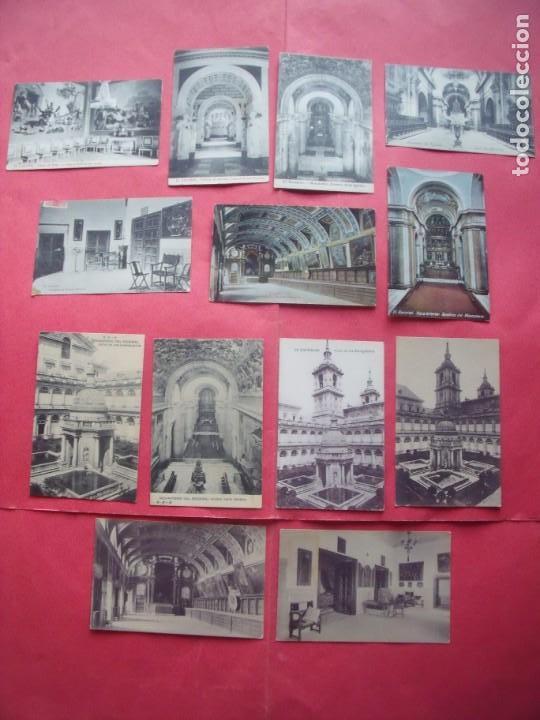 EL ESCORIAL.-MONASTERIO DEL ESCORIAL.-LOTE DE 13 POSTALES ANTIGUAS. (Postales - España - Comunidad de Madrid Antigua (hasta 1939))