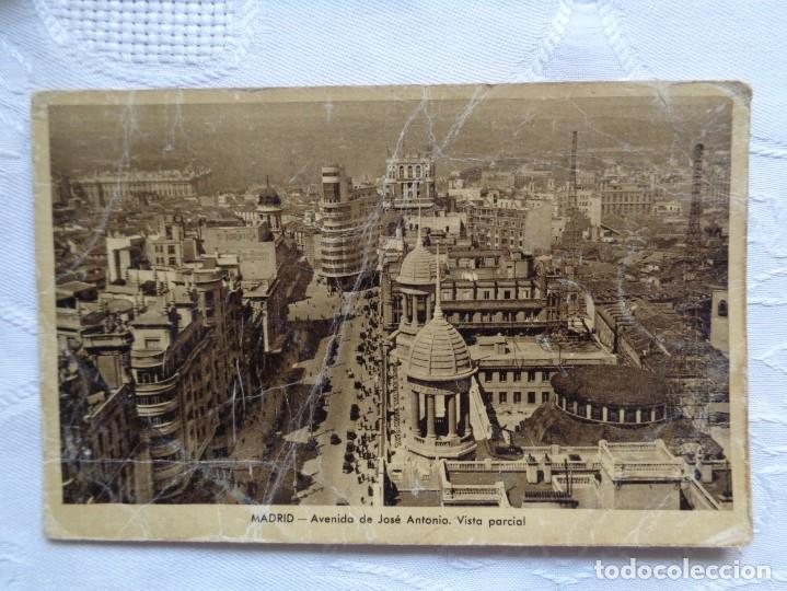 MADRID. AVENIDA DE JOSÉ ANTONIO VISTA PARCIAL. AÑOS 40. CIRCULADA. (Postales - España - Madrid Moderna (desde 1940))