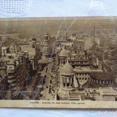 Postales: MADRID. AVENIDA DE JOSÉ ANTONIO VISTA PARCIAL. AÑOS 40. CIRCULADA. . Lote 155962894