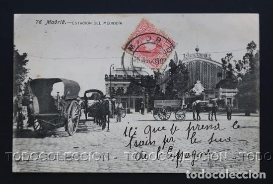 POSTAL MADRID ESTACION DEL MEDIODIA . 76 LACOSTE CA AÑO 1905 (Postales - España - Comunidad de Madrid Antigua (hasta 1939))