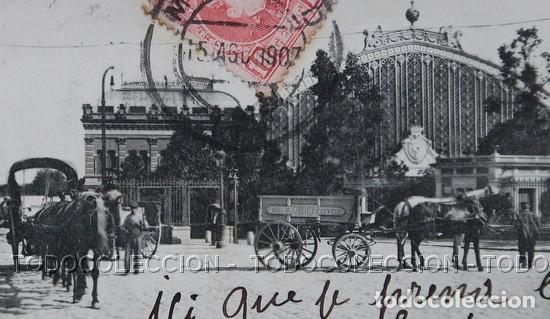 Postales: POSTAL MADRID ESTACION DEL MEDIODIA . 76 LACOSTE ca año 1905 - Foto 2 - 156539494