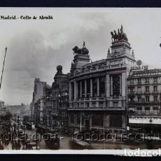 Postales: POSTAL MADRID CALLE DE ALCALA BANCO BILBAO . MARGARA - GH ALSINA . CA AÑO 1930-40. Lote 156540062