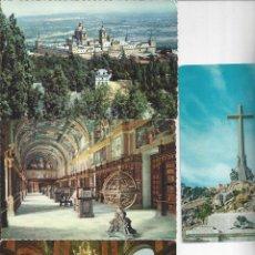 Postales: LOTE 4 POSTALES EL ESCORIAL Y VALLE DE LOS CAIDOS. AÑOS 60/70. Lote 157044166