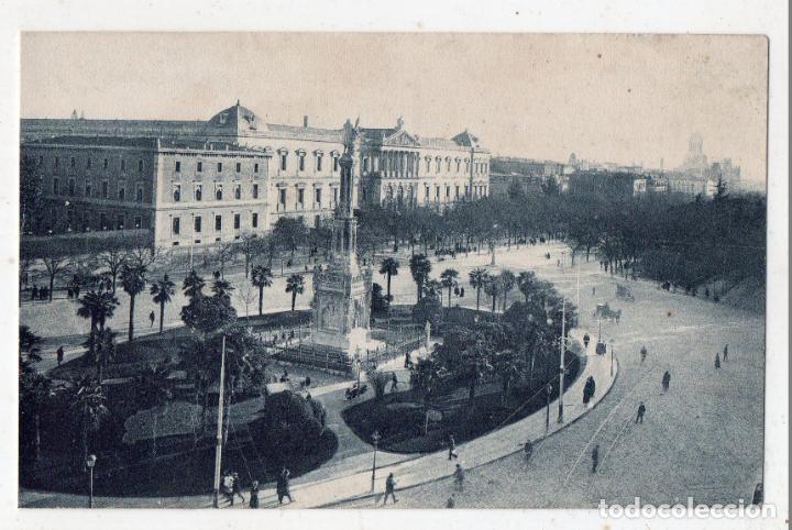 MADRID. PLAZA DE COLÓN Y BIBLIOTECA NACIONAL. (Postales - España - Comunidad de Madrid Antigua (hasta 1939))