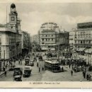 Postales: MADRID-PUERTA DEL SOL-TRANVÍAS-PUBLICIDAD-KALLMEYER. Lote 159039954