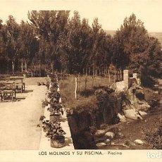 Postales: LOS MOLINOS Y SU PISCINA.- PISCINA. Lote 159626018