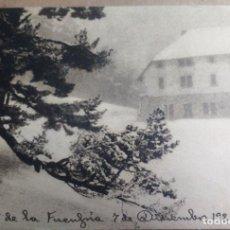 Postales: GUADARRAMA, CERCEDILLA, CHALET DE LA FUENFRIA. CIRCULADA. Lote 160015262