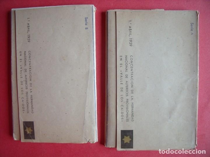 Postales: VALLE DE LOS CAIDOS.-MADRID.-BLOC DE POSTALES.-HERMANDAD NACIONAL DE ALFERECES.-AÑO 1959. - Foto 2 - 160489090