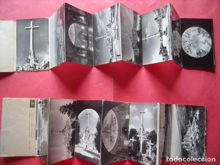 Postales: VALLE DE LOS CAIDOS.-MADRID.-BLOC DE POSTALES.-HERMANDAD NACIONAL DE ALFERECES.-AÑO 1959. - Foto 3 - 160489090