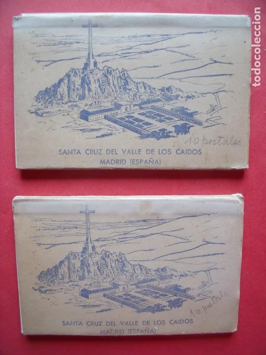 VALLE DE LOS CAIDOS.-MADRID.-BLOC DE POSTALES.-HERMANDAD NACIONAL DE ALFERECES.-AÑO 1959. (Postales - España - Madrid Moderna (desde 1940))