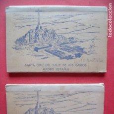 Postales: VALLE DE LOS CAIDOS.-MADRID.-BLOC DE POSTALES.-HERMANDAD NACIONAL DE ALFERECES.-AÑO 1959.. Lote 160489090