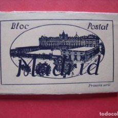 Postales: MADRID.-HELIOTIPIA ARTISTICA ESPAÑOLA.-BLOC DE 10 POSTALES.-SELLO DE PAPELERIA MAPE.-POSTALES.. Lote 160535282