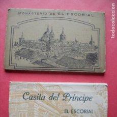 Postales: EL ESCORIAL.-MONASTERIO.-HGE.-CASITA DEL PRINCIPE.-HAUSER Y MENET.-BLOC DE POSTALES.-POSTALES.. Lote 160556366