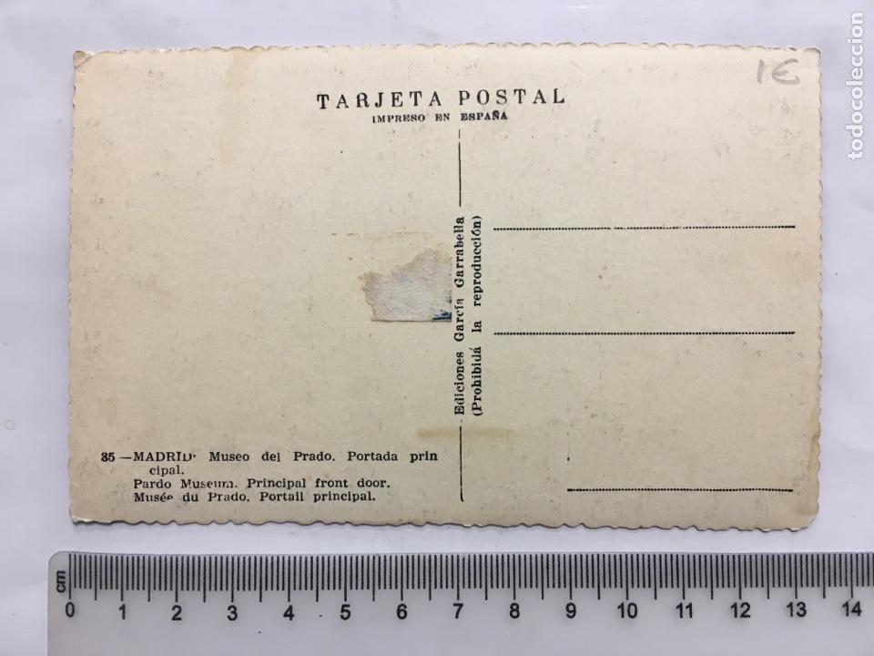 Postales: POSTAL. MADRID. MUSEO DEL PRADO. PORTADA PRINCIPAL. EDIC. GARCÍA GARRABELLA. H. 1958?. - Foto 2 - 160556385
