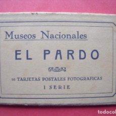 Postales: EL PARDO.-MADRID.-MUSEOS NACIONALES.-BLOC CON 10 POSTALES FOTOGRAFICAS.-HAUSER Y MENET.-POSTALES.. Lote 160556578
